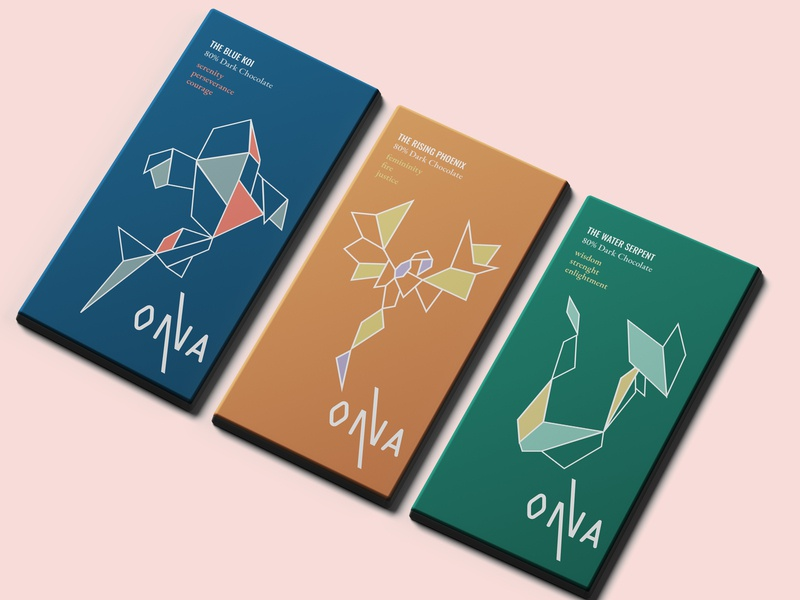 ONNA- Chocolate Packaging package design branding illustration