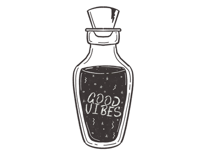 Good vibes potion good vibes lettering illustration