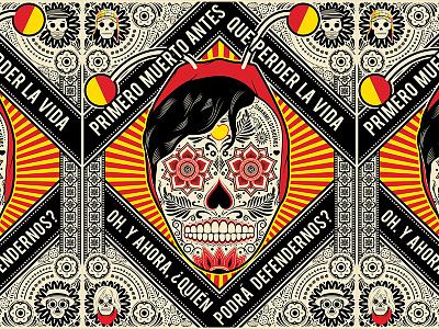 El Chapulin Calaca mexican art chespirito el chapulin xicana xicano skulls calaveras chicano tshirts dia de los muertos