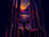 Deer in Jungle | Illustration