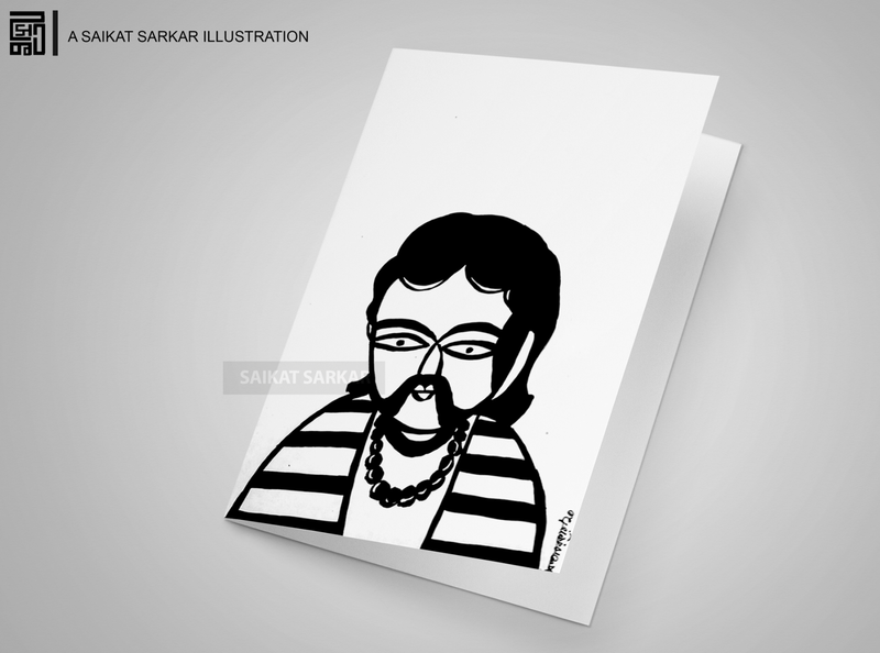 jahar 01 satyajit ray goopy gyne bagha byne saikat sarkar creative drawing saikat sarkar illustration illustration graphic  design saikatsarkar16 photoshop