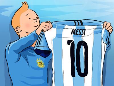 Messi In Tintin