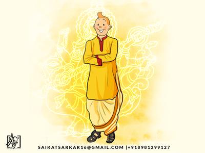 Tintin Saraswati Dribbble