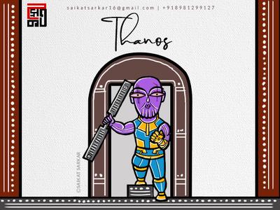 Thanos Jamini Roy Style For Dribbble