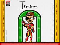 Ironman  Jamini Roy Style For Dribbble