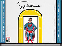 Superman  Jamini Roy Style For Dribbble