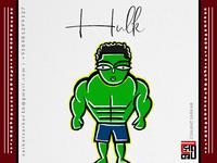 Hulk  Jamini Roy Style For Dribbble