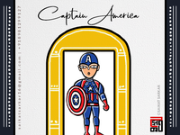 Captain America  Jamini Roy Style For Dribbble