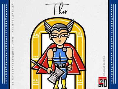 Thor  Jamini Roy Style For Dribbble