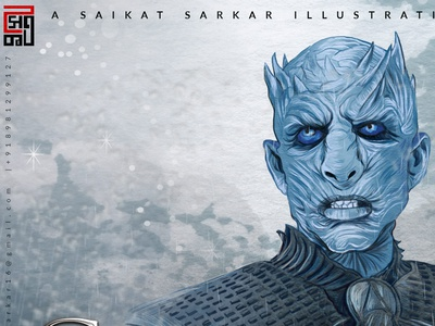 Game of throns illustration drawing art design vector painting saikat sarkar illustration saikatsarkar16 saikat sarkar poster graphic  design illustration photoshop google hbo creative game art game of throns got night king