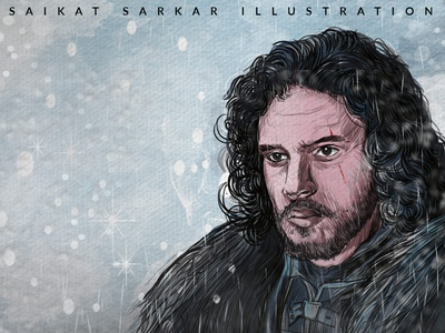 Game of Throns illustration illustration art drawing india magazine vector graphic design art saikat sarkar saikat sarkar illustration saikatsarkar16 graphic  design creative poster illustration photoshop hbo gotham game of throns got insta 01 jon snow