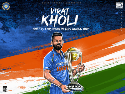 Virat Kholi Illustration For Dribbble