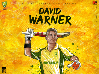 David Warner illustration