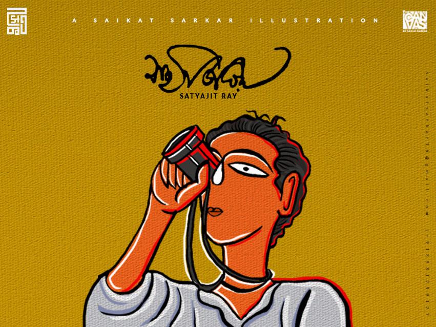 Satyajit ray jamini roy style for dribbble