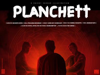 Planchett Poster logo graphic  design design painting saikatsarkar16 saikat sarkar illustration creative horror art ghost illustration photoshop