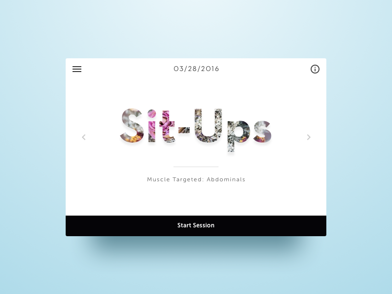 Workout of the Day sit-ups workout clean ui sketch dailyui elegant
