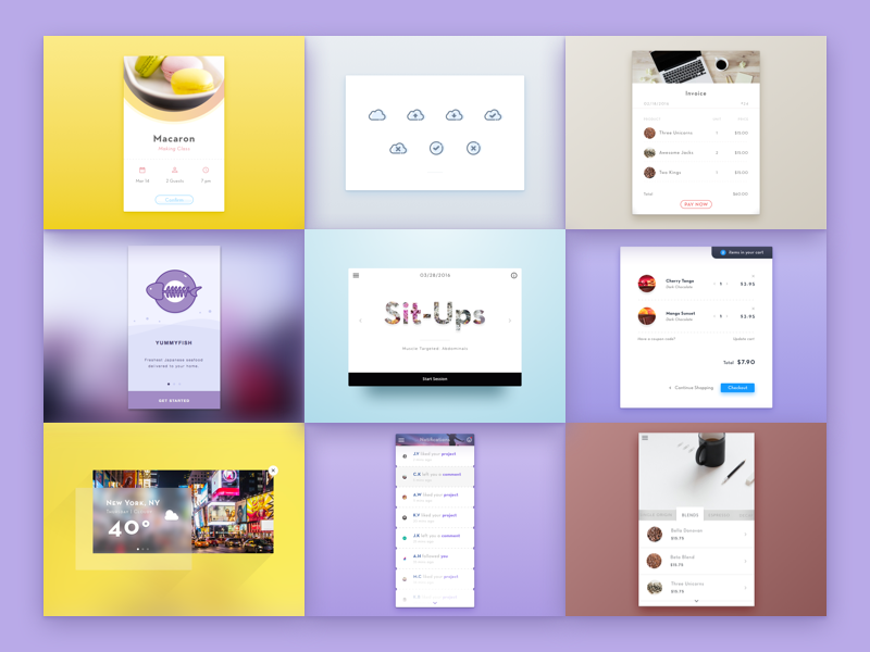 Best Of Nine clean ui sketch dailyui elegant