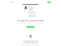 Hired landing page