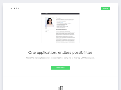 Hired Landing Page (Concept)