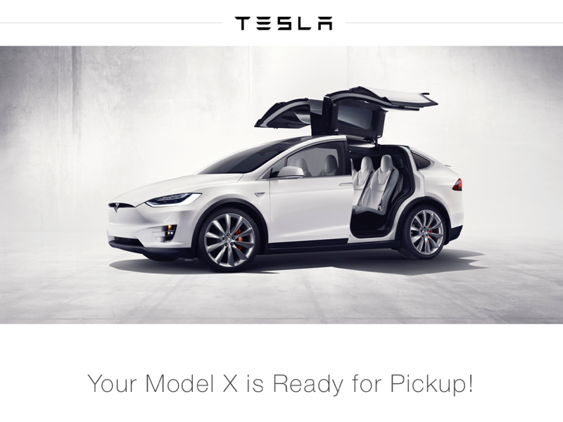Email Receipt car model x tesla email receipt sketch ui clean