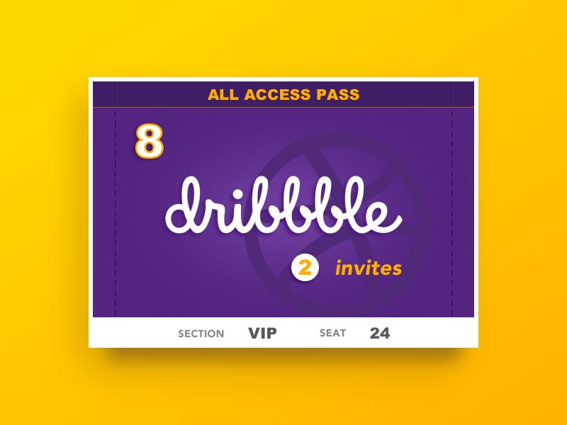 Dribbble Invites gold purple invitation invites dribbble
