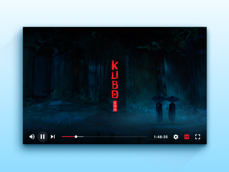 Video Player UI ui clean sketch video player
