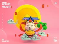 God of wealth cat