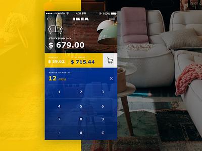 Calculator - Daily UI #004 ecommerce design ios app dailyui daily ikea purchase finance calculator ui ux