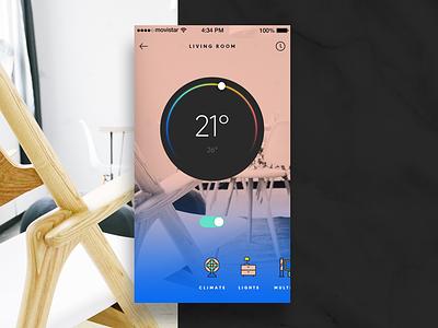 Settings - Daily UI #007 interface tech home ios app dailyui climate smart home settings ui ux