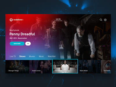 TV App - Daily UI #025 design music movies daily challenge player concept app tv dailyui ui ux