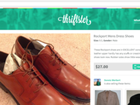 Thriftster product web view