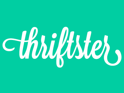 Thriftster Logo logo script type typography