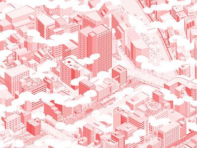 From dameisho to meisho hiroshige ando city architecture isometric view illustration waterways development urban planning tokyo