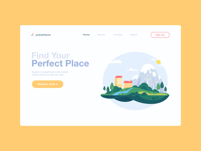 Landing Page for hotel #dailyUi3 dailyui ux ui landing page website apartments hotel webdesign landingpage minimal flat dailyui3 dailyui 003 dailyuichallenge
