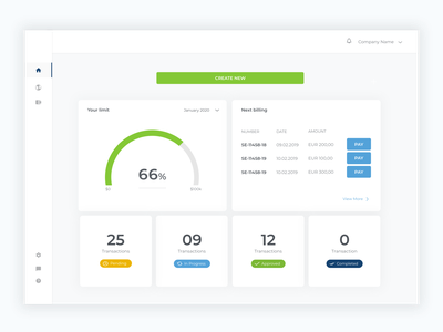 Fintech Dashboard dashboad finance fintech