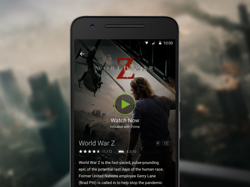 Amazon Video - Detail Page ux ui design mobile app android