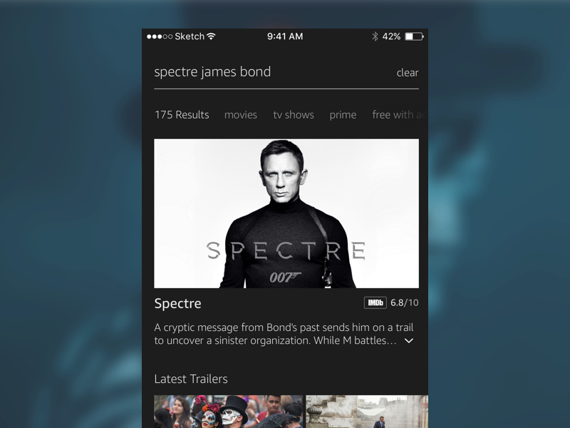 Amazon Video Search Concept ux ui search app mobile ios