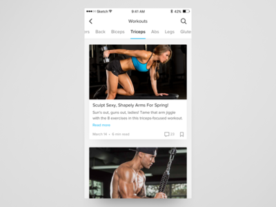 Trainer Exploration mobile app ios concept interface card ux ui