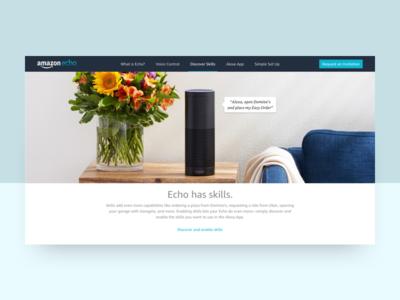 Amazon Echo Product Page ui web landing product echo design amazon