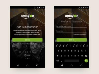 Amazon Video Onboard amazon design walkthrough onboarding ux ui android app