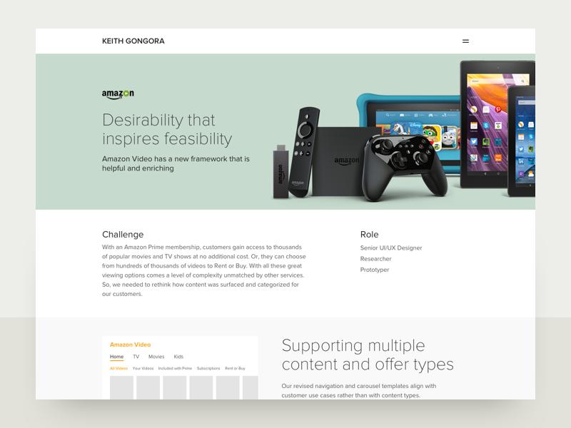 Amazon Video Framework Case Study - WIP case study amazon web design branding typography flat app mobile ux ui