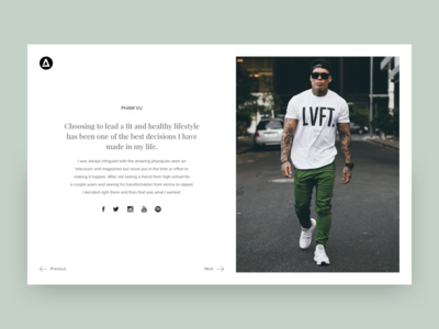 Athlete Profile - WIP ui ux typography layout clean web branding design