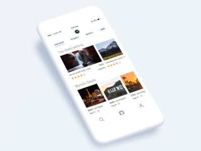 Just Having Fun flat design ui expedia travel app ios