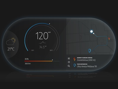 Electric Car Dashboard — UI Weekly Challenges S2 / W4/10 carui ux ui electriccarui dashboard car electriccar