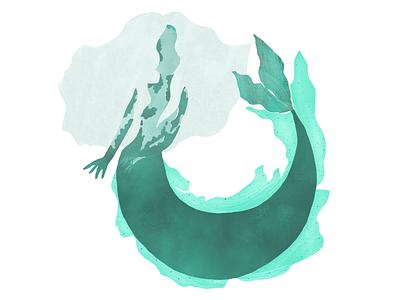 Mermay is here! photoshop siren underwater illustration mermay mermaid