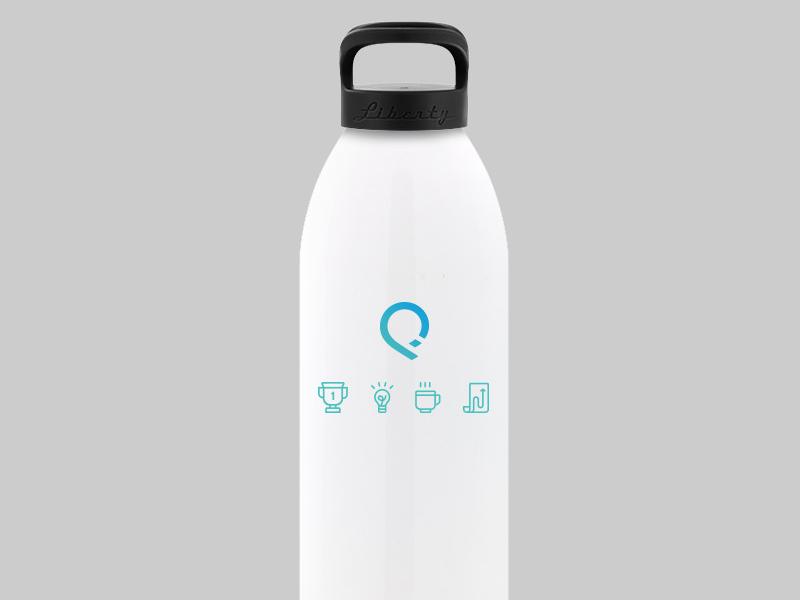 SalesforceIQ Water Bottles values geometric mock design product bottle