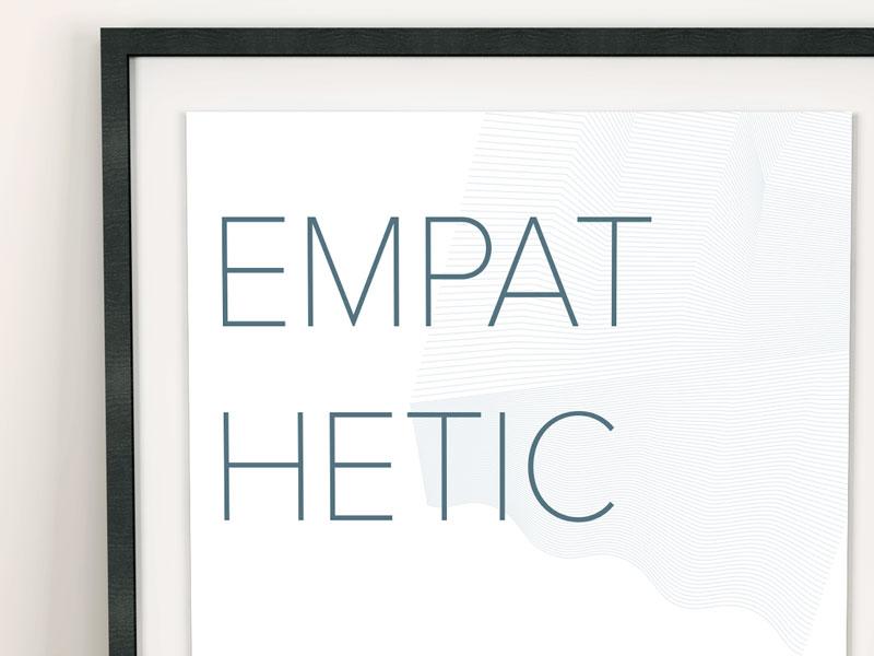 IQDesign - Design Principles empathy minimal geometric salesforce poster principles design