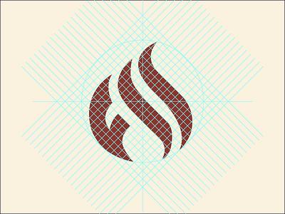 Flames logo flame icon grid