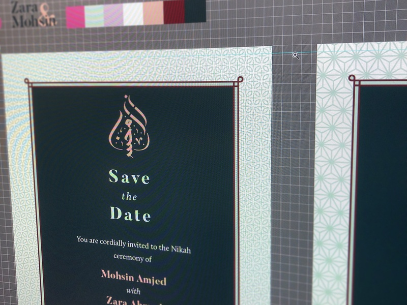 Invitations part 1 branding islamic nikah wedding invitation calligraphy arabic