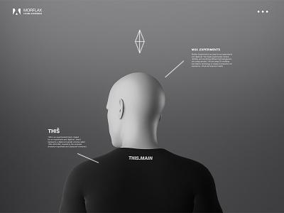 Experimental clothing brand visual interface 3d art virtual reality scifiart technology poster design poster art clothing company digital art cinema4d scifiui scifi minimalism simplicity 3d artist blender3d uiuxdesign futuristic futurism 3d